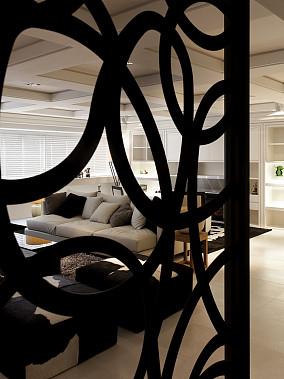 室内家装客厅隔断装修效果图