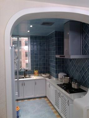 精美地中海小户型厨房装修实景图