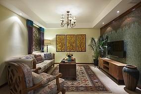 96平方三居客厅美式装修图片欣赏