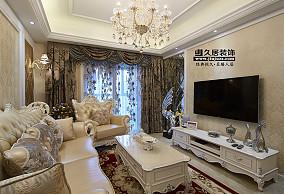 欧式风格客厅电视背景墙设计图片大全