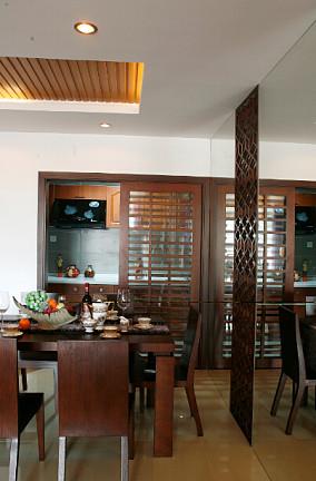 中式风格餐厅隔断装修图片
