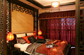 精选91平米三居卧室中式装饰图