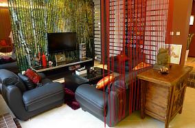 东南亚风格客厅隔断装饰效果图