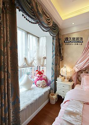欧式风格卧室窗帘装修效果图片