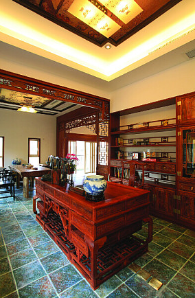 中式书房设计效果图大全