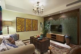 美式风格客厅电视背景墙设计图片