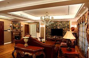 美欧风格客厅电视背景墙图片欣赏