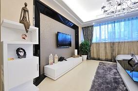 热门面积76平小户型休闲区简约装修实景图片