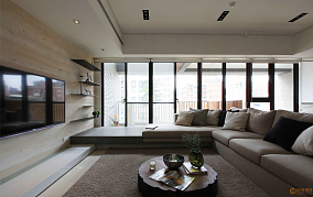热门118平米四居休闲区现代装饰图
