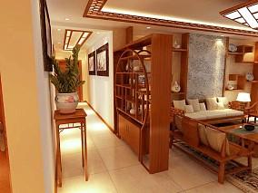 中式风格客厅隔断装修效果图大全
