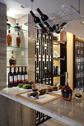 中式风格吧台酒柜酒架图片欣赏