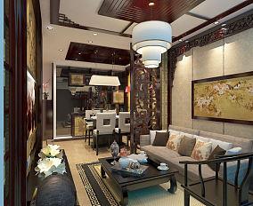中式一居装修效果图片大全