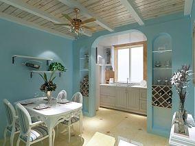 热门地中海一居装修效果图片