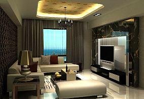 简欧风格二居客厅效果图
