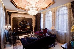 传统东南亚风格客厅效果图
