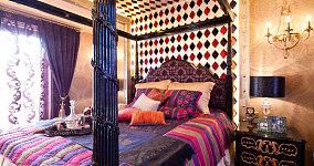 传统的东南亚风格卧室设计图