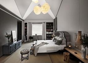精美面积129平复式卧室装修效果图片