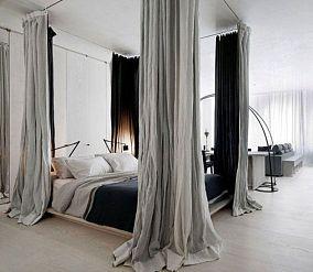 单一窗帘效果图