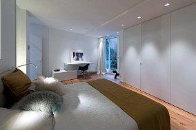 黑白复式家装卧室效果图