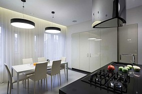 现代复式宅餐厅设计效果图