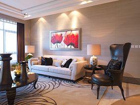 古典二居住宅沙发背景墙效果图