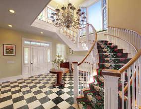 混搭古典楼梯效果图