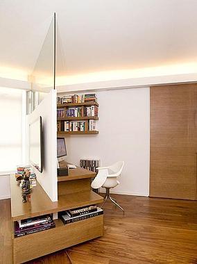 客厅与书房隔断图