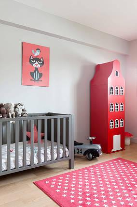 粉红调儿童房效果图