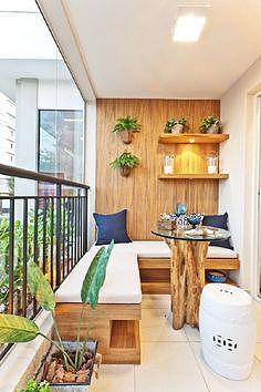 温馨木式阳台效果图