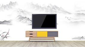 艺术喷涂电视背景墙