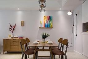 簡約風格三居室,極簡清爽解油膩3825415