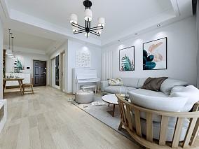 108㎡的原木风格三居室,自然舒适的家10284378