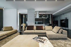 300平米现代高级黑白灰风格10915628
