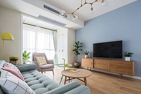 90平毛坯房现代简单风格11050540