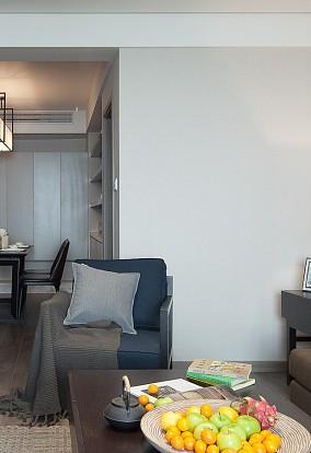 100平三居室     简单灰色调11377135