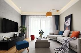 120平三居室现代简约风格11493170