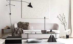 92m2北欧风,黑白时尚演绎永恒经典设计12635165