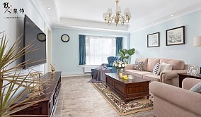 120平简美三室 淡蓝色墙面贯穿整屋14861994