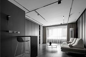 160㎡黑白灰 | 抽色处理光线流动17410132