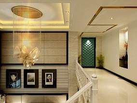 热门121平米混搭别墅过道装修设计效果图片