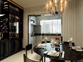 面积126平别墅餐厅混搭装修欣赏图