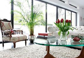 室内客厅阳台玻璃移门效果图