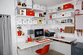 欧式风格别墅书房台式电脑桌图片