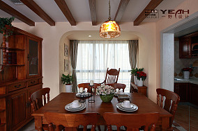 精选123平米混搭别墅餐厅效果图片