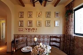 悠雅77平混搭三居餐厅装饰图片