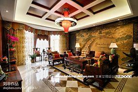 2018精选140平米东南亚别墅客厅装修欣赏图