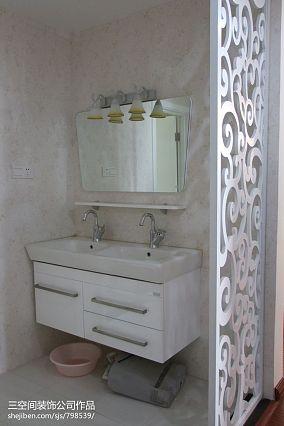 面积99平混搭三居卫生间装修欣赏图