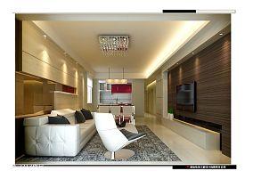热门100平米三居客厅混搭实景图片大全