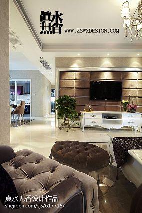 精美101平米三居客厅欧式装修设计效果图