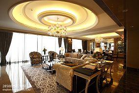 白色欧式客厅装修效果图